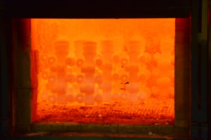 Investment Casting Services - Investment Molds in an Induction Furnace