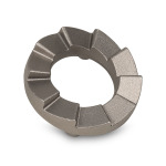 "Carbonitrided Alloy Steel | 0.6 lbs | 3"" x 3"" x 0.8"" 