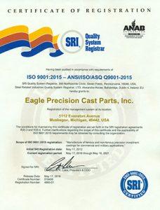 Eagle Precision - ISO Certificate