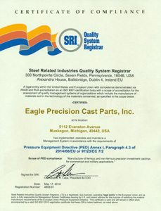 ISO & PED Certifications - Eagle Precision