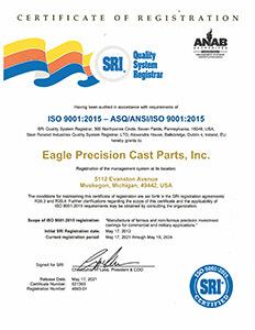 Eagle Precision ISO Certificate