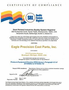 Eagle Precision PED Annex Certificate